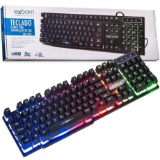 TECLADO USB GAMER SEMI-MECANICO (PRETO)(LED COLOR)BK-152C